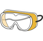 Safety goggles (yellow)