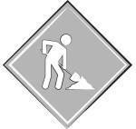 Man at work sign (grey)