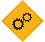Under construction sign (grey)