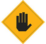Stop sign (grey)