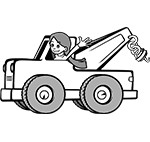 Tow truck (with driver)