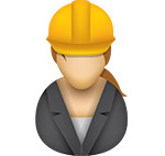 Construction-business person icon/illustration