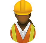 Construction worker icon/illustration