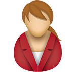Business woman icon/illustration