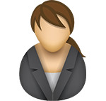 Business woman icon/illustration