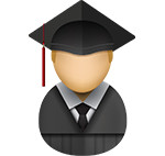 Graduate icon/illustration