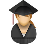 Graduate icon/illustration