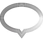 Speech bubble (stylized)