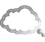 Thought bubble (stylized)