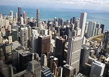 Downtown Chicago, as seen from Sears Tower (2592 x 1944)