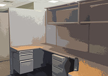 Office environment (stylized) (3981 x 2554)